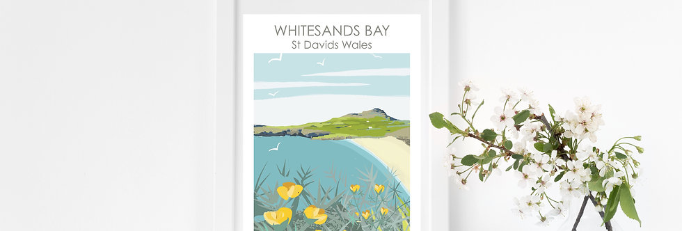WHITESANDS BAY ST DAVIDS PRINT