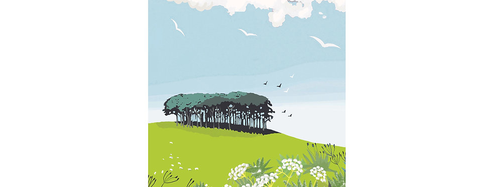 NEARLY HOME TREES PRINT WHOLESALE X 3