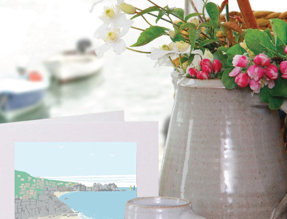 PORTHCURNO BEACH CORNWALL CARD