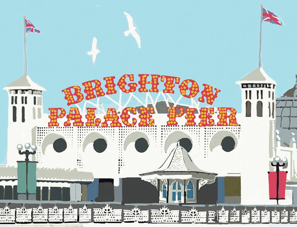 Brighton Pier Tea Towel