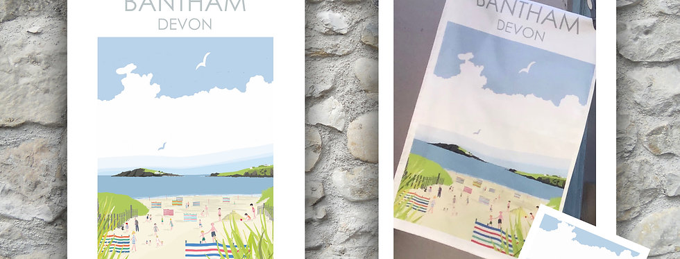 Bantham Tea Towel and Card