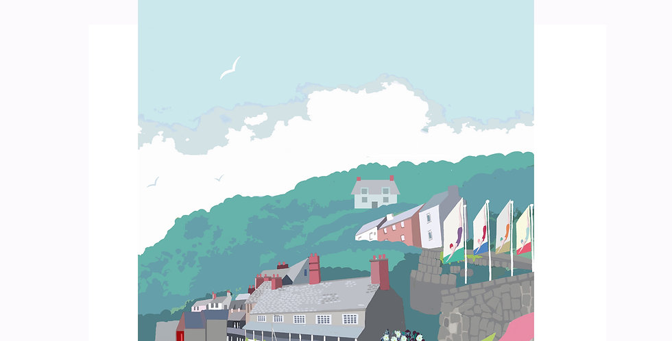 CLOVELLY HARBOUR PRINT