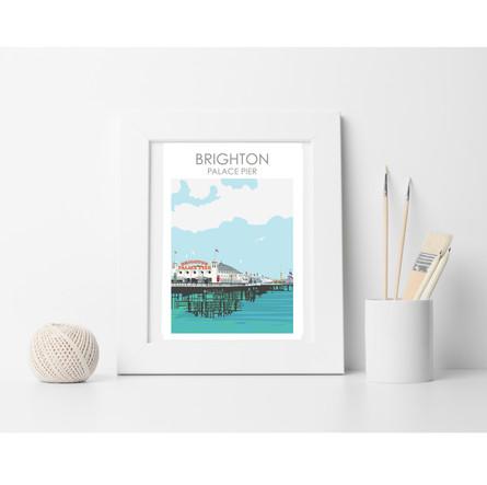 Brighton pier PRINT 2020  SET UPsq  fram