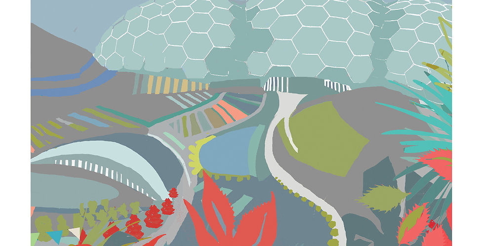 EDEN PROJECT AUTUMN CORNWALLL Greeting Card 1 or pack of 4