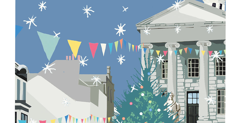 Penzance Christmas Card pack 5