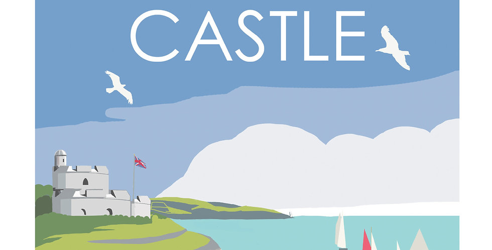 ST MAWES CASTLE FALMOUTH CORNWALL CARD
