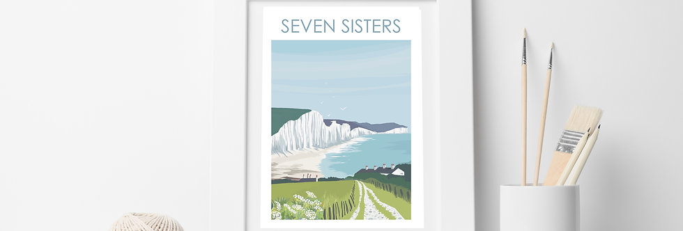 SEVEN SISTERS  SUSSEX PRINT