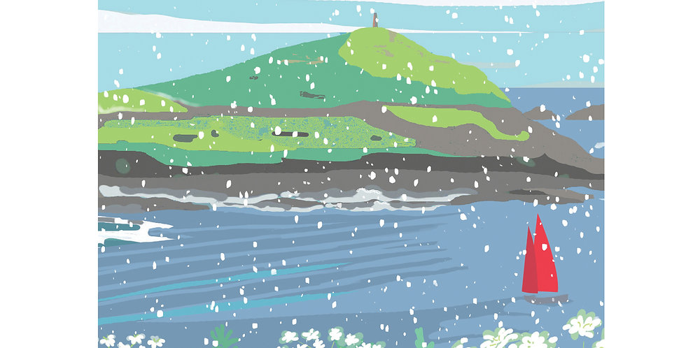 Set of 4 Cape Cornwall Christmas Cards