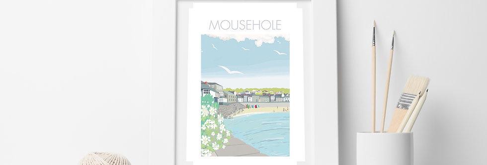 MOUSEHOLE BEACH PRINT