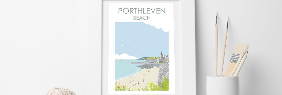 PORTHLEVEN BEACH  PRINT