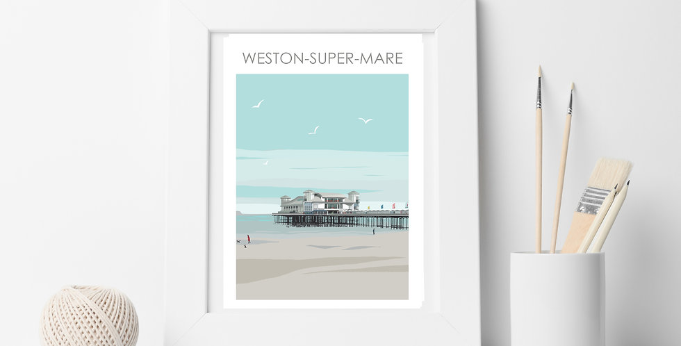 WESTON-SUPER-MARE PIER SOMERSET PRINT