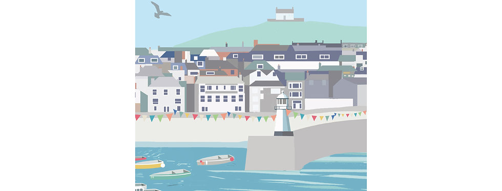 ST IVES TOWN PRINT X3 WHOLESALE