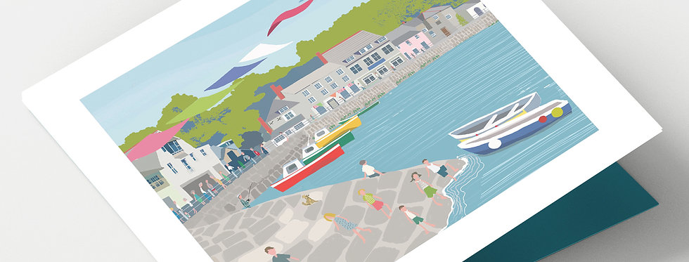 PADSTOW CORNWALL Greeting Card 1 or pack of 4