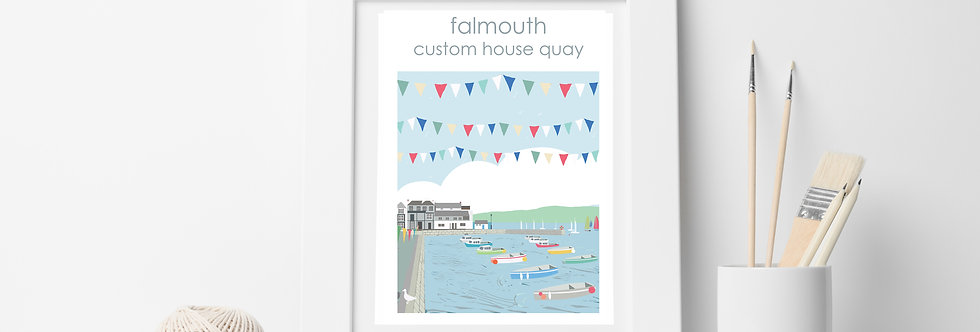 FALMOUTH CUSTOM HOUSE PRINT