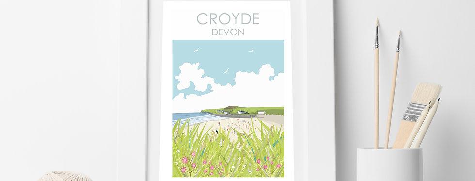 CROYDE BEACH DEVON PRINT