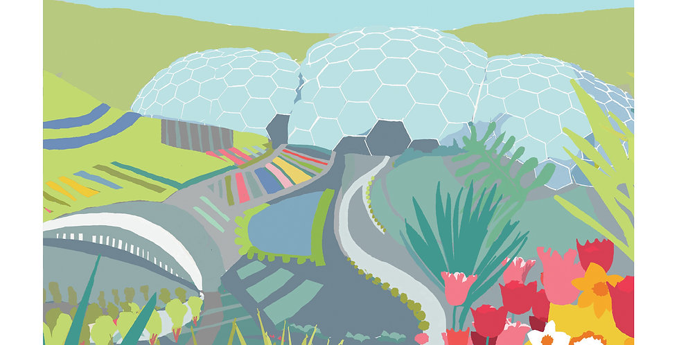 EDEN PROJECT SPRING CORNWALLL Greeting Card 1 or pack of 4