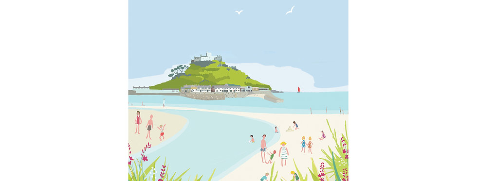 MARAZION BEACH  PRINT WHOLESALE X 3