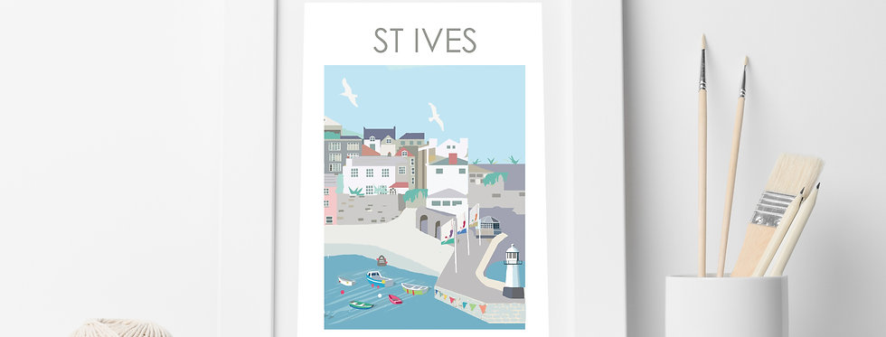 ST IVES TOWN  PRINT