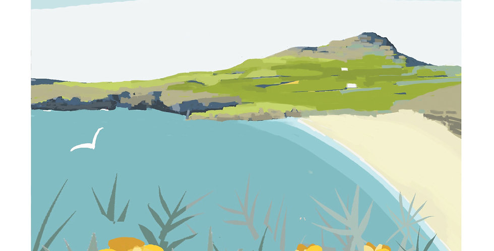 WHITESANDS BAY WALES  Greeting Card 1 or pack of 4