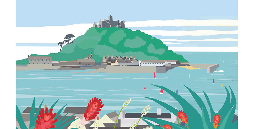 ST MICHAELS MOUNT CORNWALL CARD