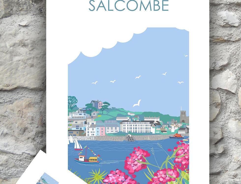 Salcombe Tea Towel and Card