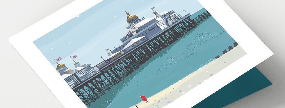 EASTBOURNE SUSSEX Greeting Card 1 or pack of 4