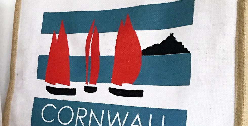 Cornwall Stripped Jute Bag