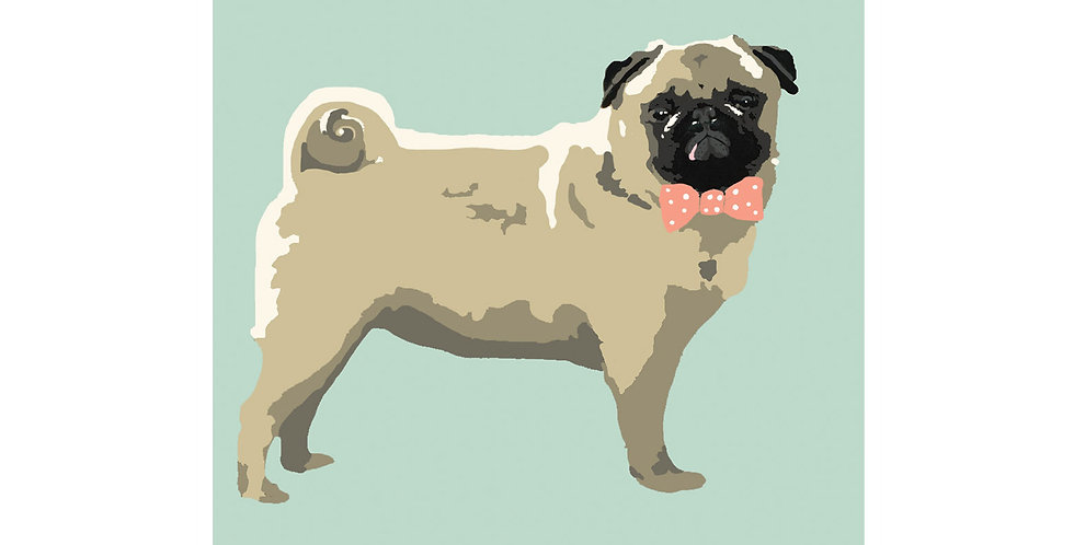 PUG DOG TEA TOWEL