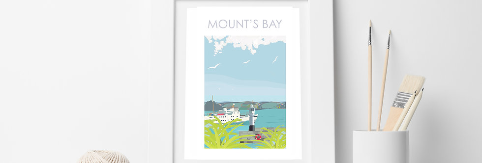 MOUNTS BAY PRINT