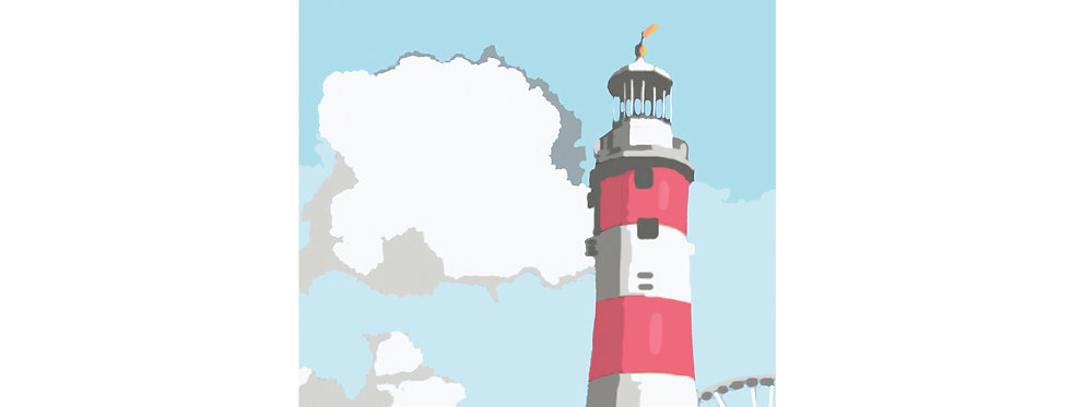 SMEATONS TOWER PLYMOUTH  PRINT