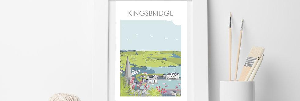 KINGSBRIDGE DEVON ART PRINT
