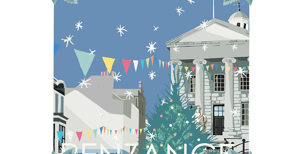 Set of 4 Penzance Christmas Cards