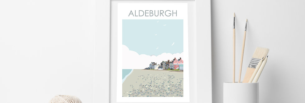 ALDEBURGH BEACH SUFFOLK PRINT