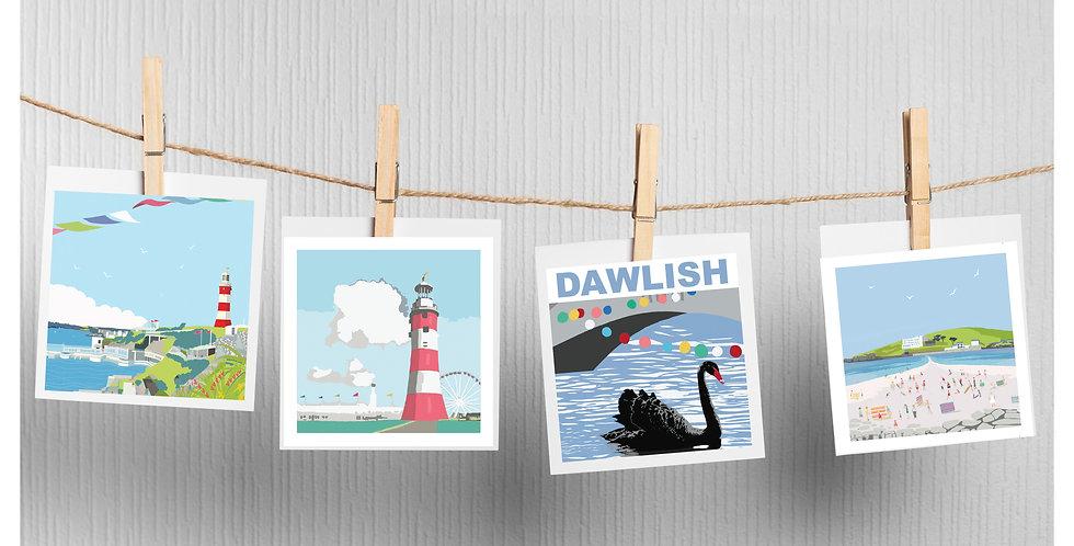 Set of 4 South Devon Cards