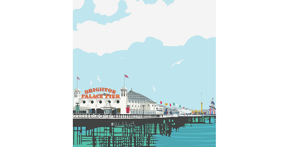BRIGHTON PALACE PIER DIGITAL PRINT