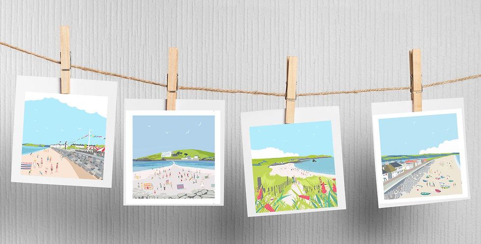 Set of 4 Devon Cards