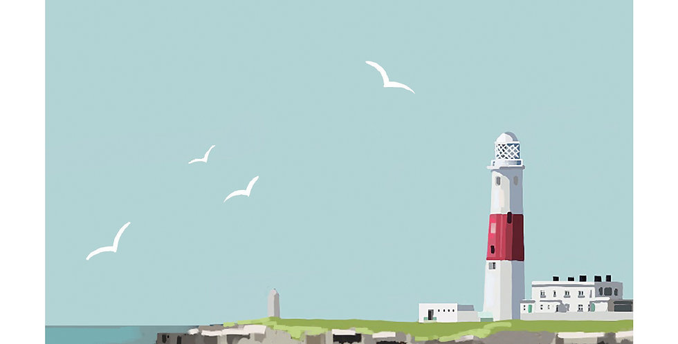 PORTLAND BILL DORSET Greeting Card 1 or pack of 4