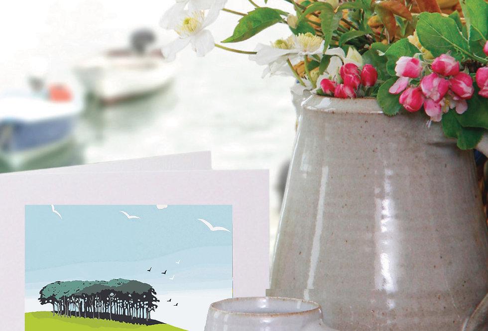 NEARLY HOME TREES DEVON CORNWALL CARD