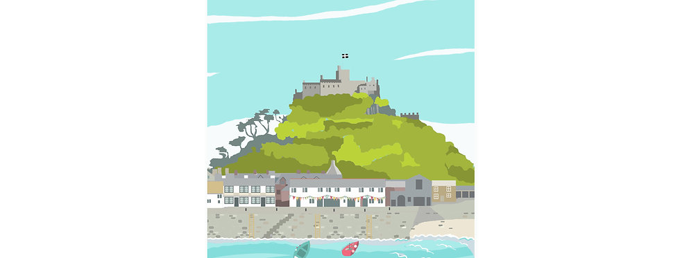 ST MICHAELS MOUNT PRINT WHOLESALE X 3