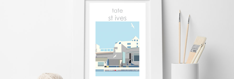 TATE ST IVES TOWN  PRINT
