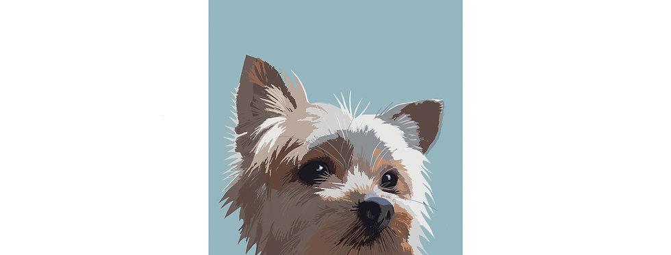 Yorkshire terrier TERRIER PRINT