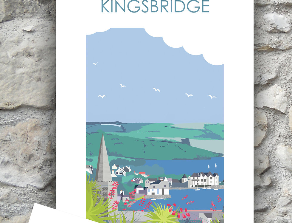 Kingsbridge Devon  Tea Towel and Card