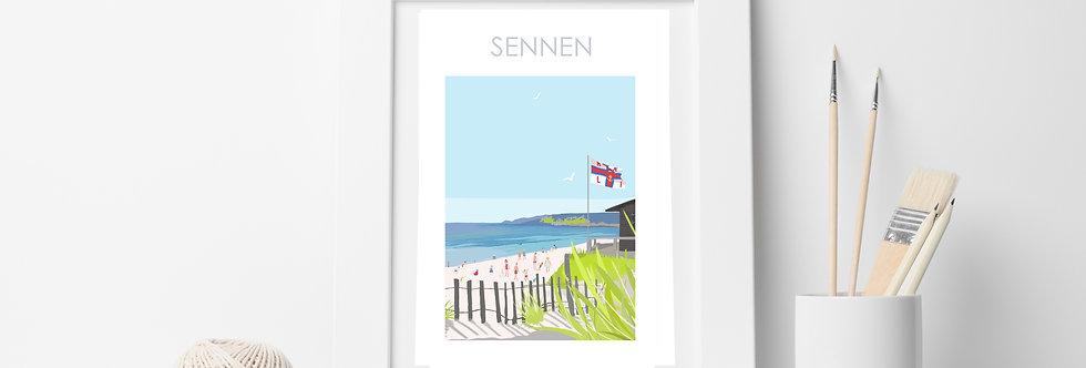 SENNEN BEACH  PRINT