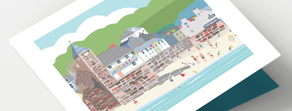 KINGSAND CORNWALL Greeting Card 1 or pack of 4