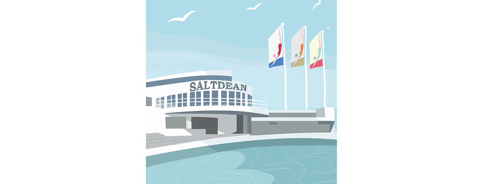 SALTDEAN LIDO SUSSEX PRINT X3 WHOLESALE