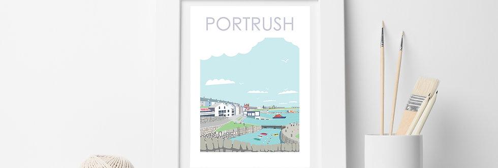 PORTRUSH HARBOUR NORTHERN IRELAND PRINT