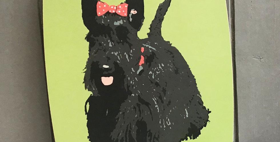 Scottie Dog Chopping Board Made in the UK