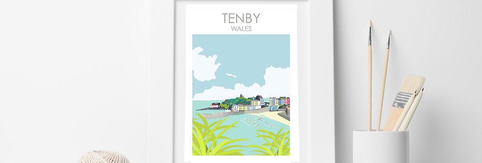 TENBY WALES PRINT