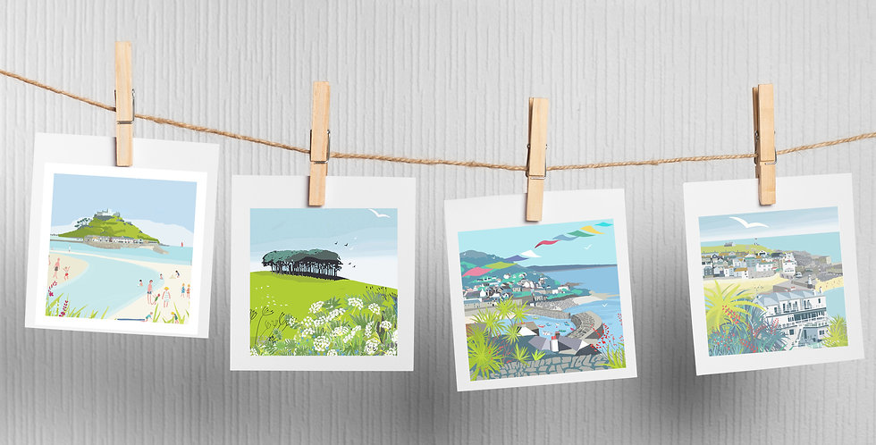 Set of 4 Cornwall Cards