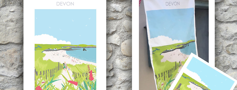 South Milton Tea Towel and Card